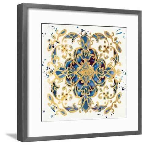 Little Jewels IV Blue-Jess Aiken-Framed Art Print