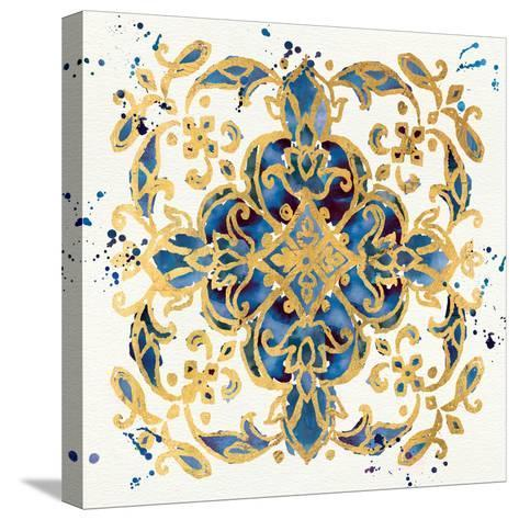 Little Jewels IV Blue-Jess Aiken-Stretched Canvas Print