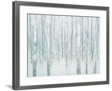 Birches in Winter Blue Gray-Julia Purinton-Framed Art Print
