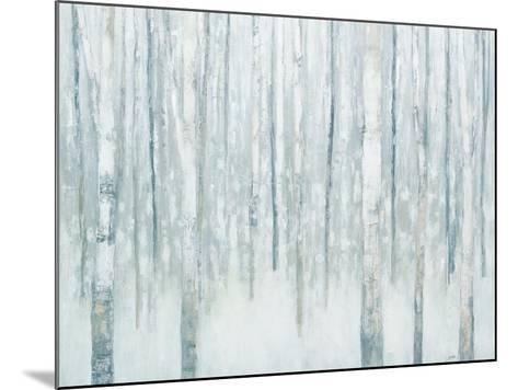 Birches in Winter Blue Gray-Julia Purinton-Mounted Art Print