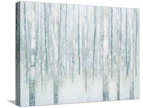 Birches in Winter Blue Gray-Julia Purinton-Stretched Canvas Print