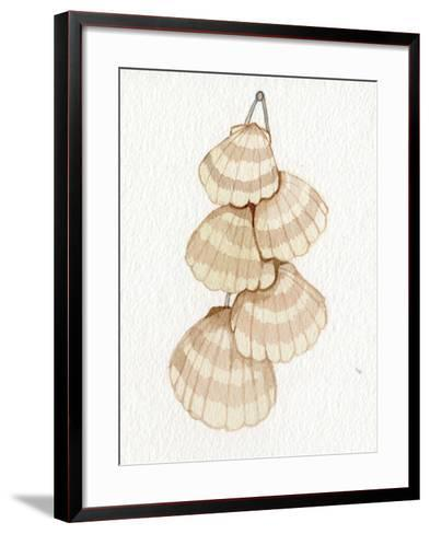 Coastal Holiday Ornament II-Kathleen Parr McKenna-Framed Art Print