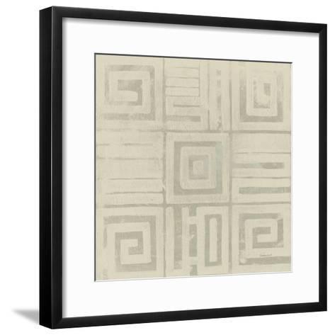 Geometric Tone on Tone III Dark-Kathrine Lovell-Framed Art Print