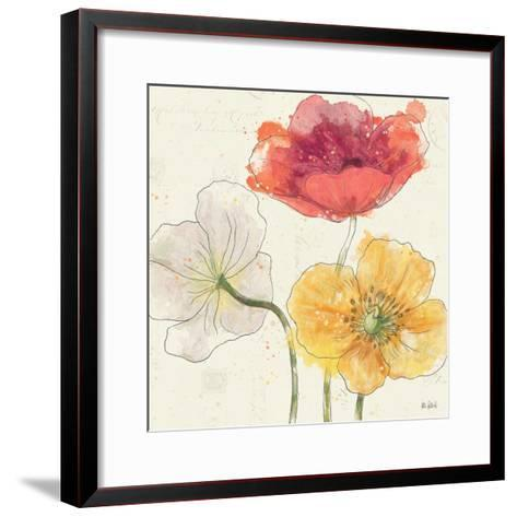Painted Poppies V-Katie Pertiet-Framed Art Print