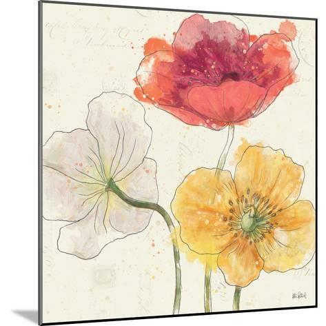 Painted Poppies V-Katie Pertiet-Mounted Art Print