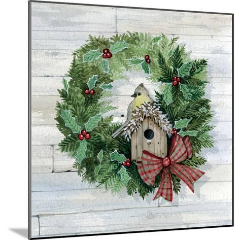Holiday Wreath III on Wood-Kathleen Parr McKenna-Mounted Art Print
