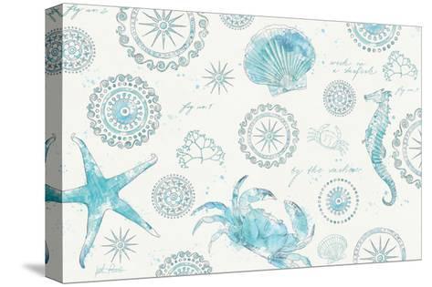 Coastal Splash V-Katie Pertiet-Stretched Canvas Print