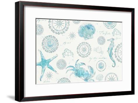 Coastal Splash V-Katie Pertiet-Framed Art Print