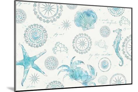 Coastal Splash V-Katie Pertiet-Mounted Art Print