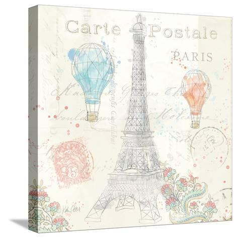 Lighthearted in Paris V-Katie Pertiet-Stretched Canvas Print