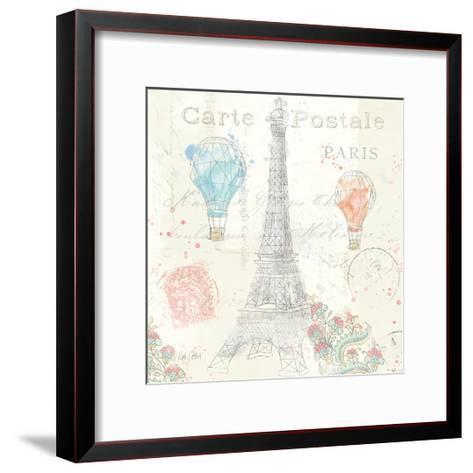 Lighthearted in Paris V-Katie Pertiet-Framed Art Print