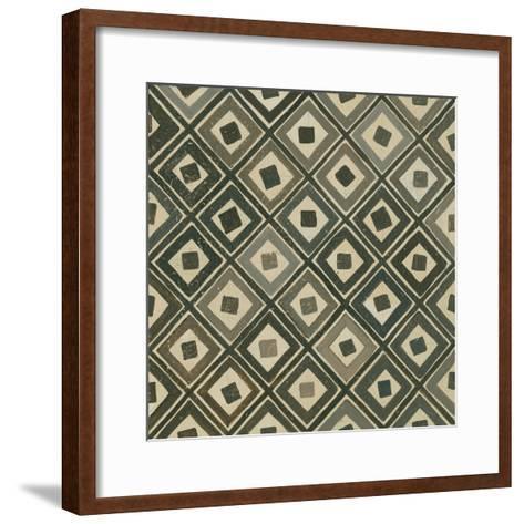 Diagonal Squares-Kathrine Lovell-Framed Art Print