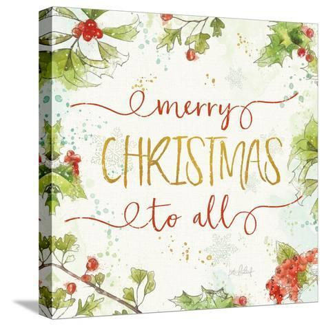 Christmas Sentiments IV-Katie Pertiet-Stretched Canvas Print