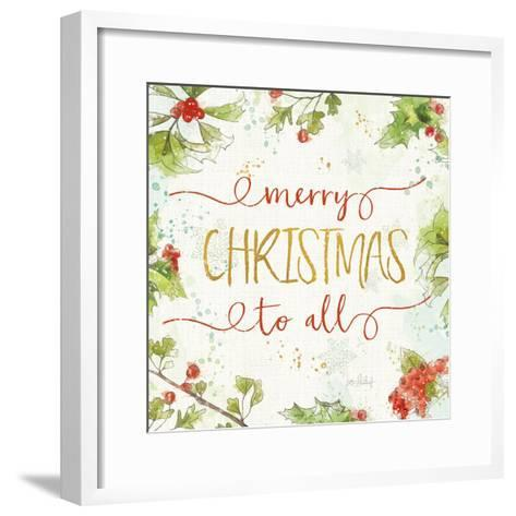 Christmas Sentiments IV-Katie Pertiet-Framed Art Print