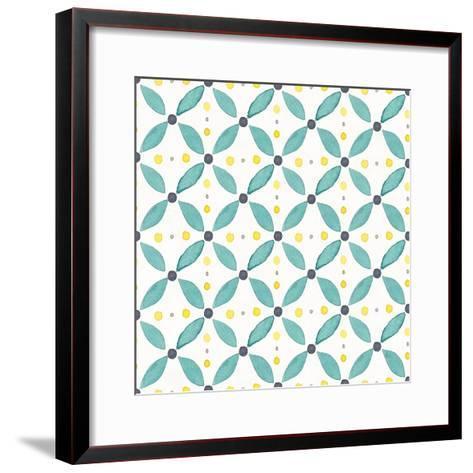 Garden Getaway Pattern XA-Laura Marshall-Framed Art Print