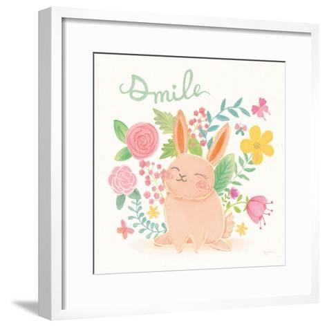 Garden Friends White II Smile-Mary Urban-Framed Art Print