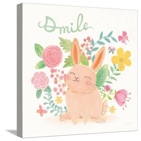 Garden Friends White II Smile-Mary Urban-Stretched Canvas Print