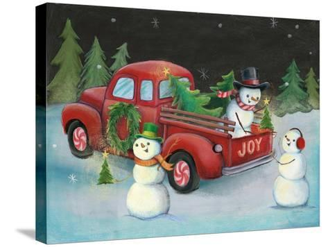 Christmas on Wheels II-Mary Urban-Stretched Canvas Print