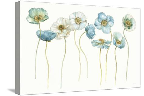 My Greenhouse Poppies Silhouettes-Lisa Audit-Stretched Canvas Print