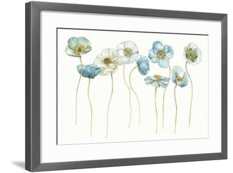 My Greenhouse Poppies Silhouettes-Lisa Audit-Framed Art Print