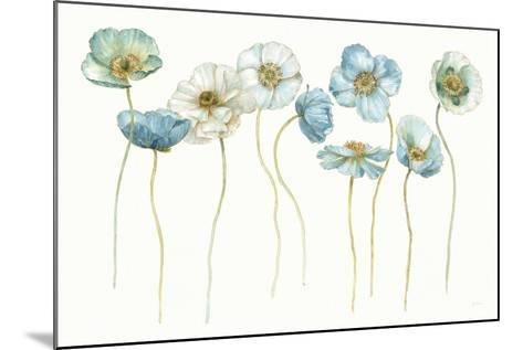 My Greenhouse Poppies Silhouettes-Lisa Audit-Mounted Art Print