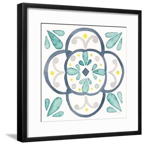 Garden Getaway Tile VII White-Laura Marshall-Framed Art Print