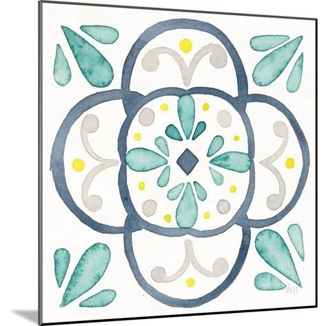 Garden Getaway Tile VII White-Laura Marshall-Mounted Art Print