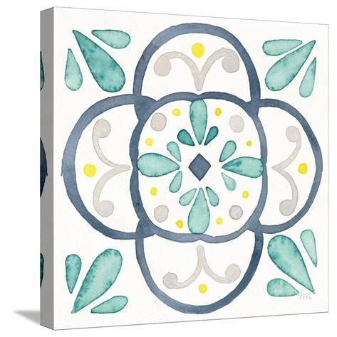 Garden Getaway Tile VII White-Laura Marshall-Stretched Canvas Print