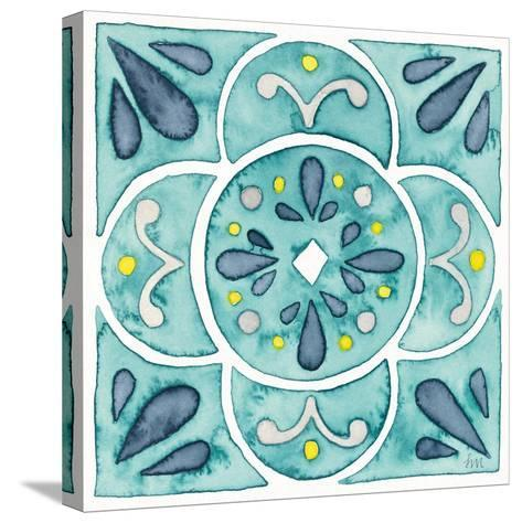 Garden Getaway Tile VII Teal-Laura Marshall-Stretched Canvas Print