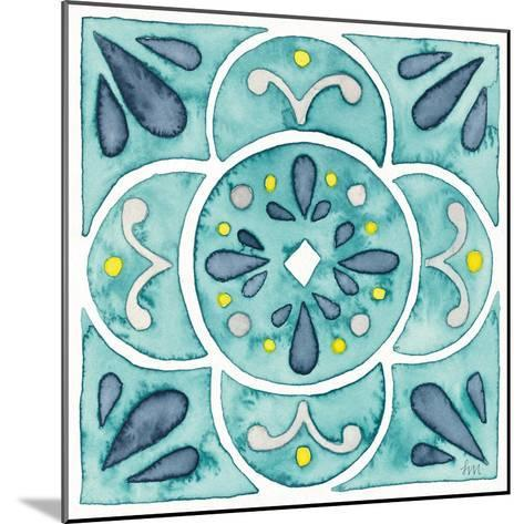 Garden Getaway Tile VII Teal-Laura Marshall-Mounted Art Print