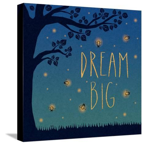 Twilight Fireflies I-Laura Marshall-Stretched Canvas Print