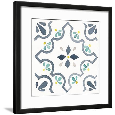 Garden Getaway Tile II White-Laura Marshall-Framed Art Print