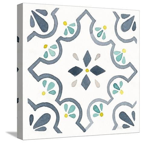 Garden Getaway Tile II White-Laura Marshall-Stretched Canvas Print