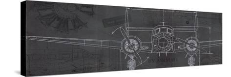 Plane Blueprint IV-Marco Fabiano-Stretched Canvas Print