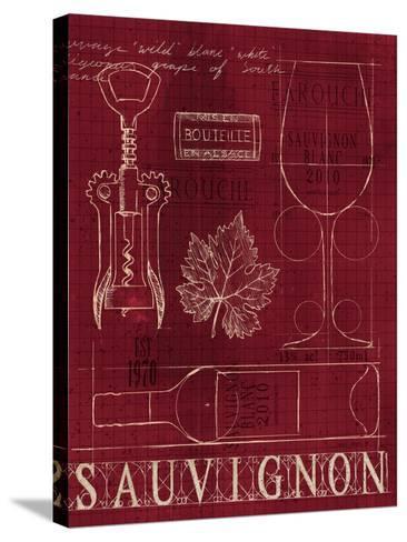 Wine Blueprint IV v-Marco Fabiano-Stretched Canvas Print