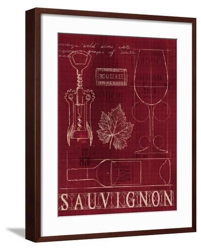 Wine Blueprint IV v-Marco Fabiano-Framed Art Print