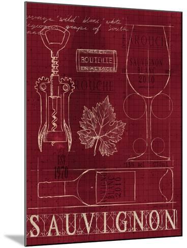 Wine Blueprint IV v-Marco Fabiano-Mounted Art Print