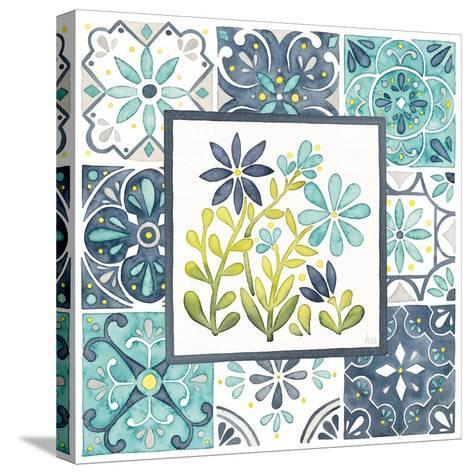 Garden Getaway Patchwork II-Laura Marshall-Stretched Canvas Print