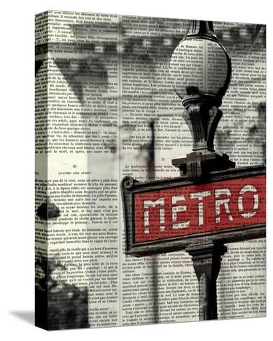 Red Metro I Crop-Marc Olivier-Stretched Canvas Print