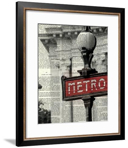 Red Metro I Crop-Marc Olivier-Framed Art Print