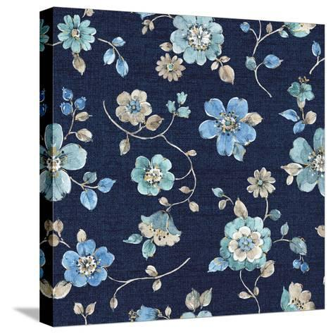 Indigold Flowers Mini trail Indigo-Lisa Audit-Stretched Canvas Print