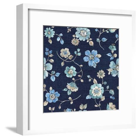 Indigold Flowers Mini trail Indigo-Lisa Audit-Framed Art Print