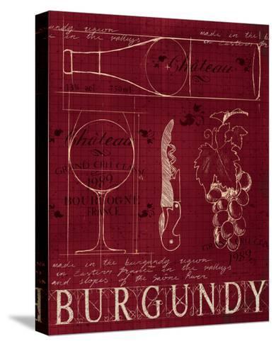 Wine Blueprint I v2-Marco Fabiano-Stretched Canvas Print