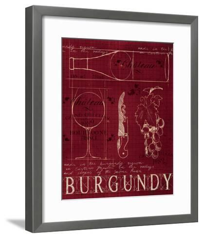 Wine Blueprint I v2-Marco Fabiano-Framed Art Print