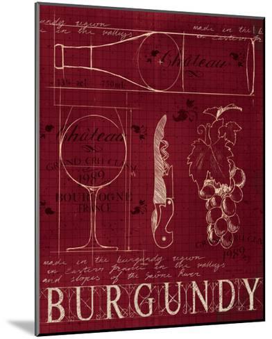 Wine Blueprint I v2-Marco Fabiano-Mounted Art Print