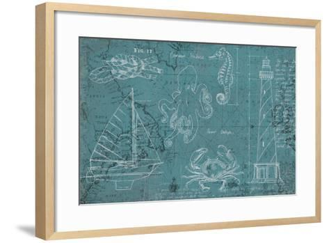 Coastal Blueprint-Marco Fabiano-Framed Art Print