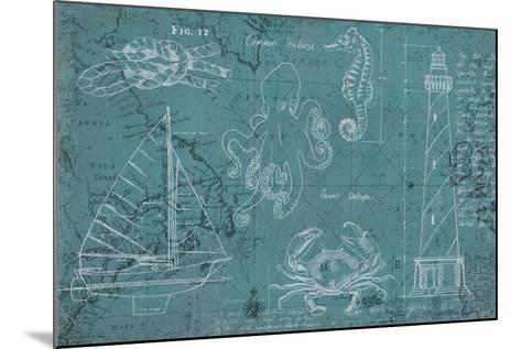 Coastal Blueprint-Marco Fabiano-Mounted Art Print