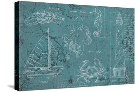 Coastal Blueprint-Marco Fabiano-Stretched Canvas Print
