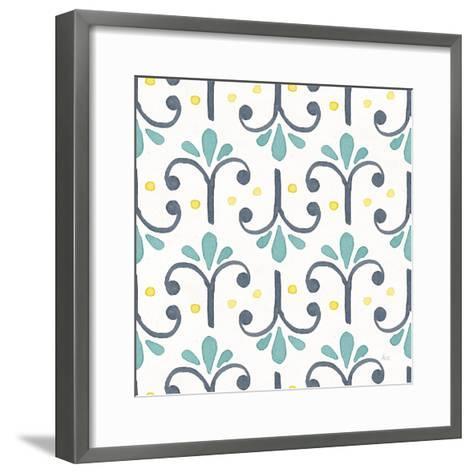Garden Getaway Pattern XIV-Laura Marshall-Framed Art Print