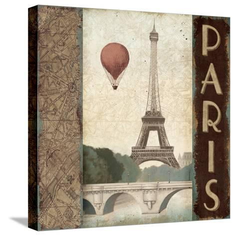 City Skyline Paris Vintage Square-Marco Fabiano-Stretched Canvas Print